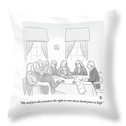 The Founding Fathers Drafting The Constitution Throw Pillow