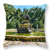 The Fountain - Iconic Fountain At The Huntington Library. Throw Pillow