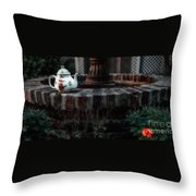 The Fountain And The Teapot Throw Pillow