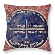 The Four Corners Throw Pillow