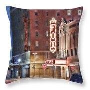 The Fox After The Show Throw Pillow