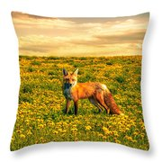 The Fox And The Cow Throw Pillow