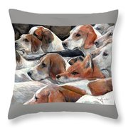 Fox Play Throw Pillow