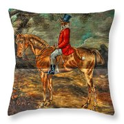 The Fox Hunt With Light Antique Store Mural Griffin Georgia Art Throw Pillow