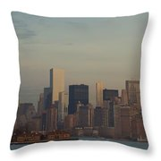 The Freedom Tower And Island Throw Pillow