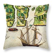 The French Discvoer Six More Rivers Throw Pillow