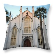 Charleston French Huguenot Church Throw Pillow