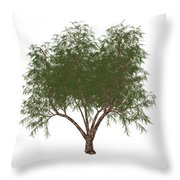 The French Tamarisk Tree Throw Pillow