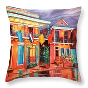 The Frenchmen Hotel New Orleans Throw Pillow