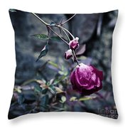 The Friday The 13th Rose Throw Pillow