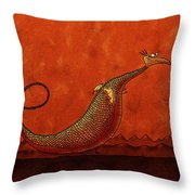 The Friendly Dragon Throw Pillow by Gianfranco Weiss