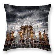 The Friendship Fountain Moscow Throw Pillow
