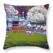 The Frog Pond Throw Pillow