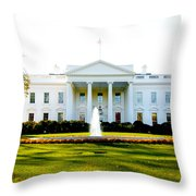 The Front Door Throw Pillow by Greg Fortier