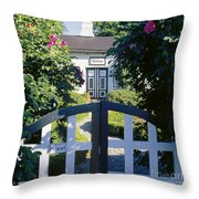 The Front Garden Throw Pillow