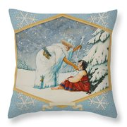 The Frost King Throw Pillow
