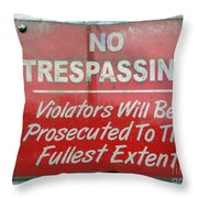 The Fullest Extent Throw Pillow
