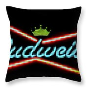 The Funky King Of Bud Throw Pillow