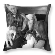 The Future Of Farming Throw Pillow