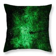 The Galaxy Green Version Throw Pillow