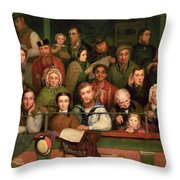 The Gallery, Drury Lane Throw Pillow