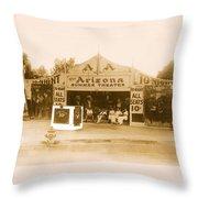 The Gamblers 1914 Lubin The Arizona Summer Theater Tent Tucson Arizona 1914-2008 Throw Pillow