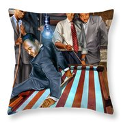 The Game Changers And Table Runners Throw Pillow by Reggie Duffie