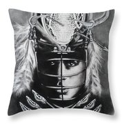 The Game Of Lacrosse  Throw Pillow