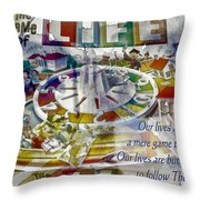 The Game Of Life Throw Pillow
