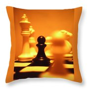 The Games We Play Throw Pillow by Thomas Woolworth