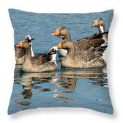 The Gang's All Here Throw Pillow
