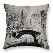 Bridge To The World Throw Pillow