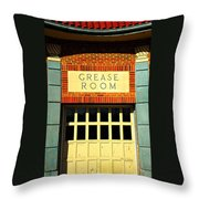 The Garage Throw Pillow