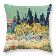 The Garden At Arles, Detail Throw Pillow