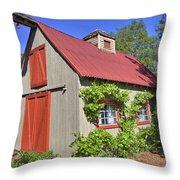 The Garden Barn Throw Pillow
