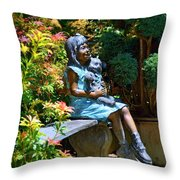 The Garden Bench Throw Pillow