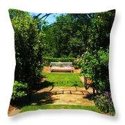 The Garden Bench Throw Pillow