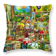 The Garden Cupboard Throw Pillow