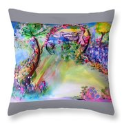 The Garden Grew More Beautiful As Did She Throw Pillow