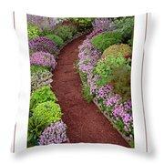 The Garden Poster Throw Pillow