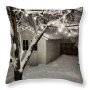 The Garden Sleeps Throw Pillow by Michelle Calkins