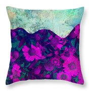The Garden Wall Abstract Art Throw Pillow
