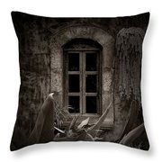 The Garden Window Throw Pillow