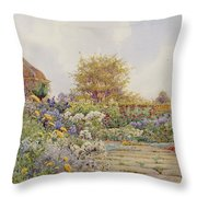 The Gardens At Chequers Court Throw Pillow