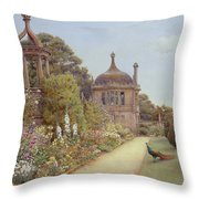 The Gardens At Montacute In Somerset Throw Pillow