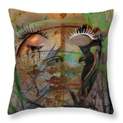 The Gardian In Roots  Throw Pillow