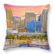 The Garish City Cincinnati Throw Pillow