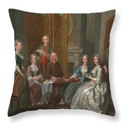 The Gascoigne Family, C.1740 Throw Pillow