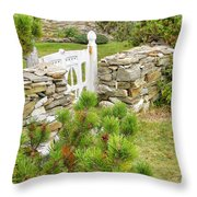 The Gate By The Sea Throw Pillow