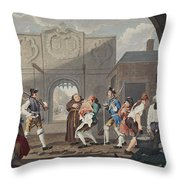 The Gate Of Calais, Or O The Roast Beef Throw Pillow
